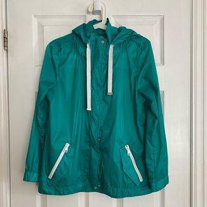 NWOT  Talbots Green Rain Jacket
